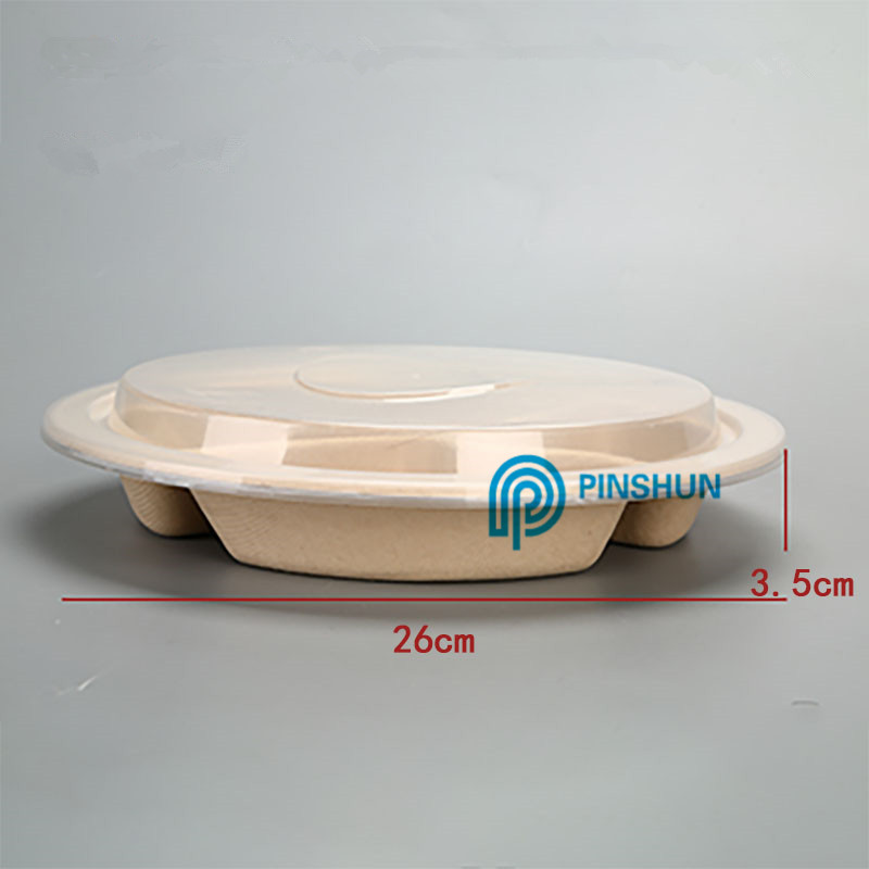 round degradeable disposable food tray