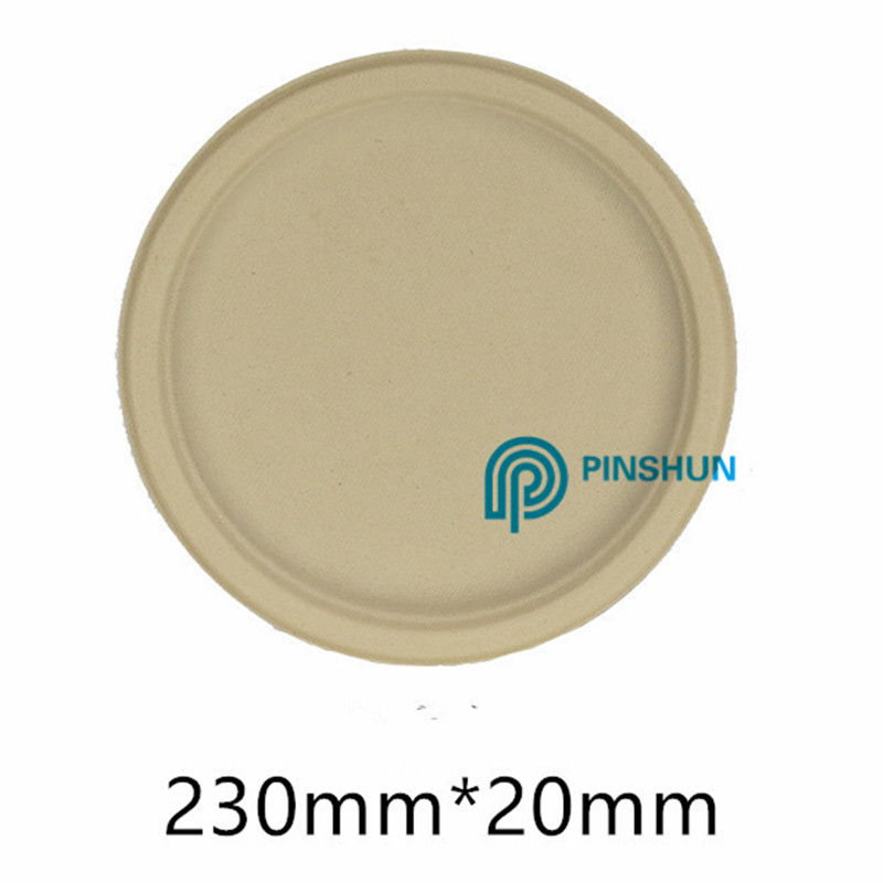 Biodegradable disposable round plate made in China